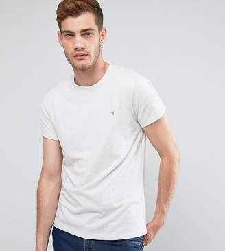 Farah Gloor Marl Slim Fit T-Shirt In Oatmeal