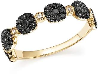 Bloomingdale's Black and White Diamond Micro Pave Stacking Band in 14K Yellow Gold - 100% Exclusive
