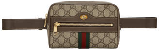 Gucci Brown Small GG Supreme Ophidia Belt Bag