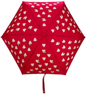 Moschino heart pattern umbrella