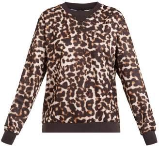 The Upside Lulu leopard-print crew-neck jersey sweatshirt