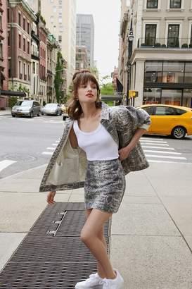 Urban Outfitters Snakeskin Print Mini Skirt