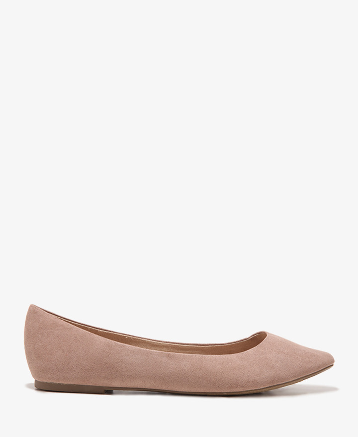 Forever 21 Faux Suede Ballet Flats