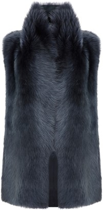 Gushlow & Cole Mid Length Mixed Texture Shearling Gilet