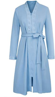 5c5d18d301 Zexxxy House Bathrobes for Women Long Shawl Collar Robe Dressing Gown L