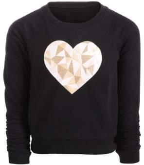 Ideology Little Girls Heart-Print Sweatshirt, Created for Macy's