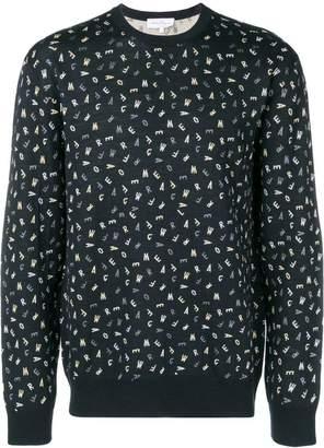 Salvatore Ferragamo all-over print jumper