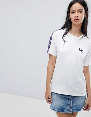 Lee T Shirt with Taping and Logo