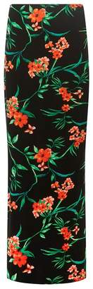 Dorothy Perkins Tall Black Tammy Tropical Maxi Skirt