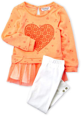 Juicy Couture Toddler Girls) Two-Piece Heart Tutu Pullover & Leggings Set