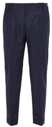 Paul Smith Slim Leg Wool And Cashmere Blend Trousers - Mens - Blue
