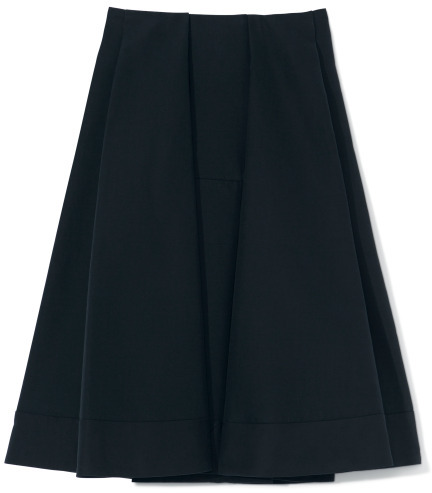 Marni Pleated Cotton A-Line Skirt