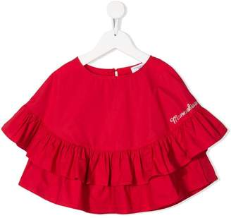 MonnaLisa frilled red top