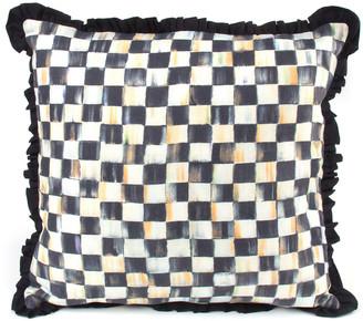 Mackenzie Childs MacKenzie-Childs Courtly Check Ruffled Square Pillow