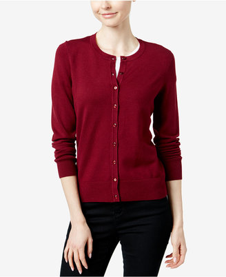 Charter Club Crew-Neck Cardigan, Only at Macy's $29.98 thestylecure.com
