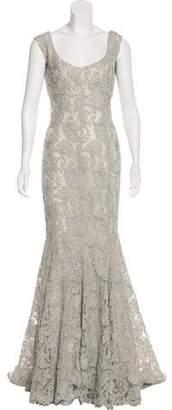 Prada Sleeveless Lace Gown