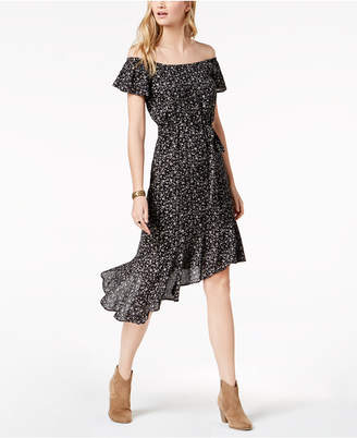 Lucky Brand Ruffled Off-The-Shoulder Fit & Flare Dress