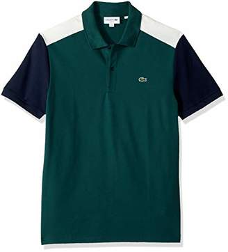 Lacoste Men's Short Sleeve Slim Fit Pima Stretch Polo Withcolorblock