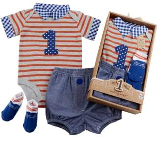 Baby Aspen My First Birthday Bodysuit, Shorts & Socks Set