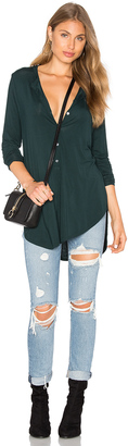 Michael Stars Long Sleeve Tunic Henley Top $98 thestylecure.com