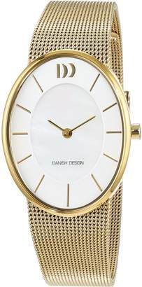 Danish Design Women's Gold-Tone Steel Bracelet & Case Quartz MOP Dial Analog Watch IV05Q1168