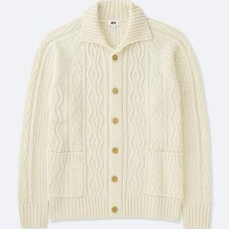 Uniqlo Men's Cable Knit Long-sleeve Cardigan