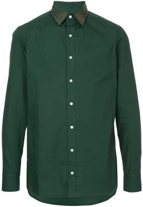 Kolor stud-collar fitted shirt