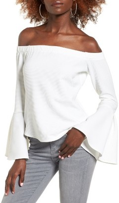 Women's Leith Bell Sleeve Off The Shoulder Top $55 thestylecure.com
