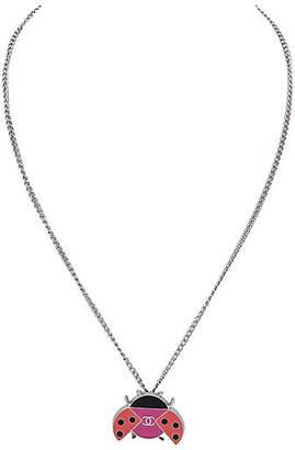 One Kings Lane Vintage Chanel Enameled Ladybug Necklace - Vintage Lux