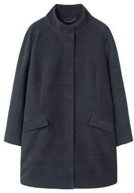 Violeta BY MANGO Funnel neck coat