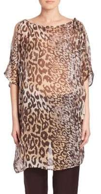 Natori Shadow Leopard Silk Tunic