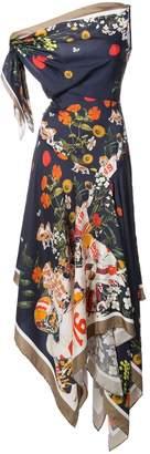 Monse floral print handkerchief dress