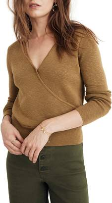 3c924b55853f6 Madewell Wrap Front Pullover Sweater
