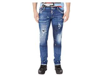 DSQUARED2 Slim Jeans in Faded Patches Wash