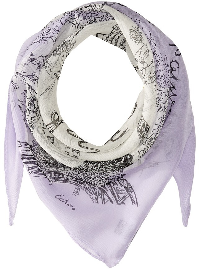 Echo Design - Joie De Viver Silk Square Scarf Scarves