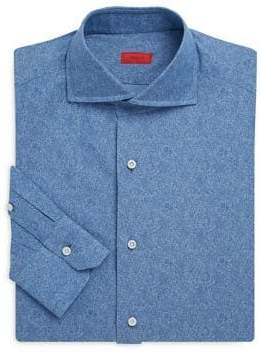 Isaia Tonal Floral Dress Shirt