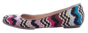 Missoni Abstract Patterned Knit Flats