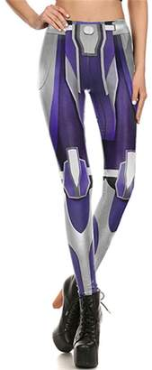 Fashionable Wesoseeis Women's Leggings 3D Printed Bionic Leggings Pants S