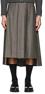 Thom Browne Men's Pleated Wool Fresco Skirt - Gray