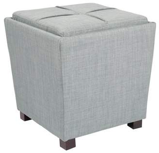 Marlow OSP Designs 2 Piece Ottoman Set with Tray Top in Bluebird Fabric