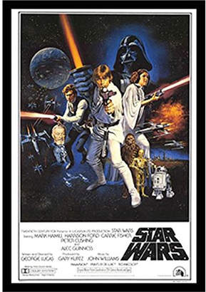 Star Wars Buy Art For Less 'Star Wars a New Hope 'Framed Graphic Art