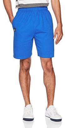 Flying Ace Men's Heavy Cotton Jersey Gym Short with Logo Embroidery