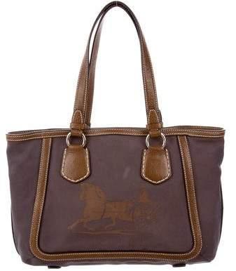 Céline Leather-Trimmed Canvas Bag