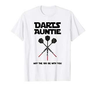 D+art's Darts Aunt Auntie Board Game Gift Bullseye Beer Pub Shirt