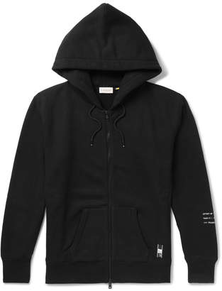 Moncler Genius - 7 Fragment Shell-Panelled Loopback Cotton-Jersey Zip-Up Hoodie - Men - Black