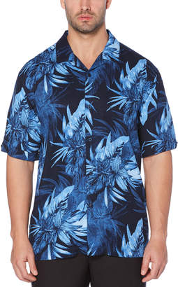 Cubavera Exploded Tropical Camp Collar Shirt