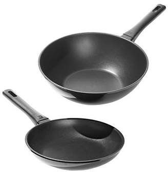 Zwilling J.A. Henckels Madura Induction Friendly Two-Piece 9.5in Fry Pan & 12in Wok Set