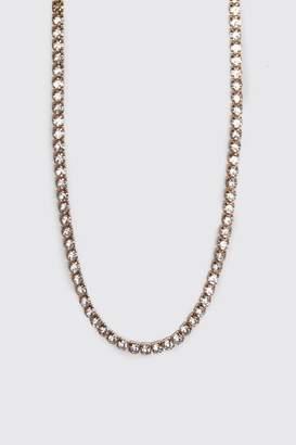 BoohoomanBoohooMAN Mens Metallics Diamante Tennis Chain, Metallics