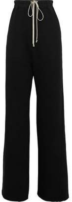 Rick Owens Cotton-Fleece Wide-Leg Pants