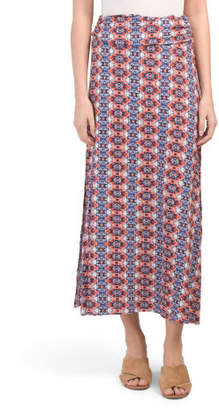 Made In Usa Paisley Swing Maxi Skirt